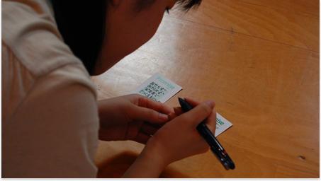 「先輩の話」は大学生スタッフから高校生に話をする時間です。